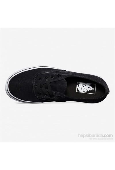 Vans Authentic Pırıltılı Siyah Unisex Ayakkabı