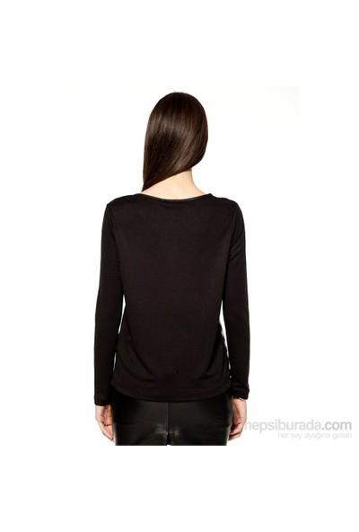 Markaport Bluz Siyah - Kahverengi
