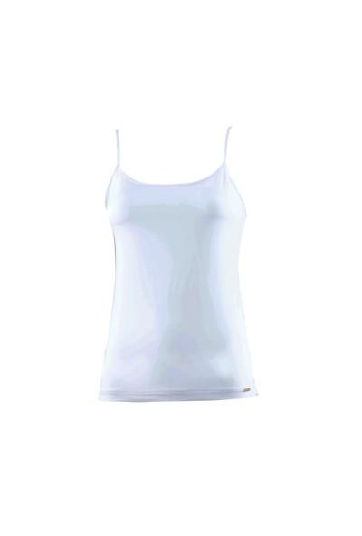 Blackspade Comfort Kadın İnce Askılı Atlet 1547 Beyaz