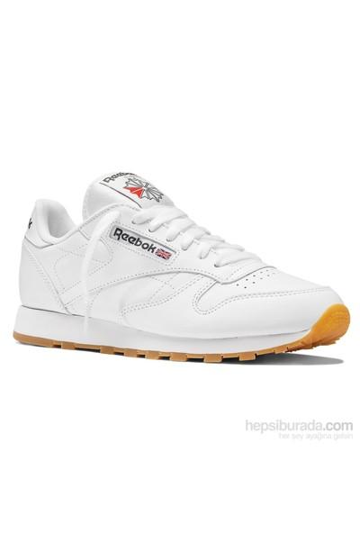 Reebok 49799 Cl Lthr White/Gum Erkek Spor Ayakkabı