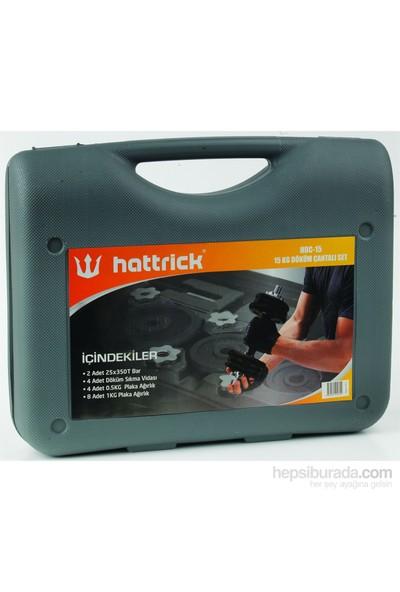 Hattrıck HDC 15 Siyah Döküm Çantalı Set 15 kg