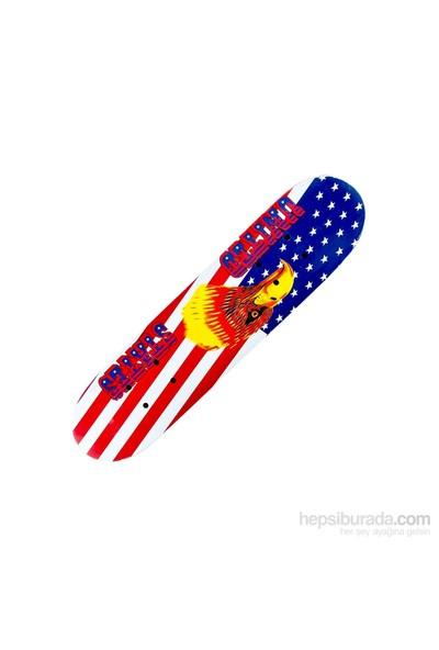 Bdrom Silikon Tekerli Çift Taraf Desenli Orta Boy Kaykay U.S. Flag