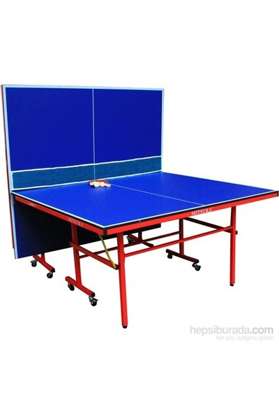 Mitsuka Strike Mavi Masa Tenis Masası (2 raket + 3 Top ve Ağ Set HEDİYE!)