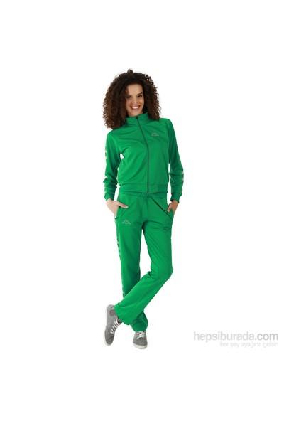 Kappa 1 302XOA T07L Bayan Kadın Raşel Şeritli Eşofman Altı Yeşil