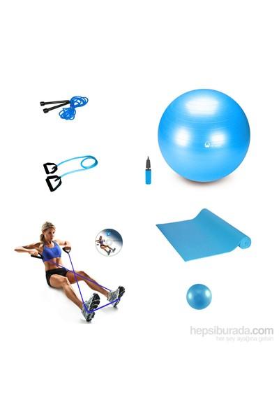 Tristar Pilates Basic Set C8 Mavi