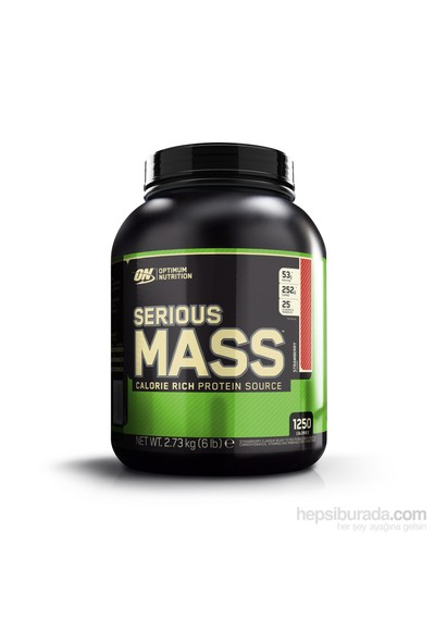 Optimum Nutrition Serious Mass Çilek Aromalı 6lbs./2727gr