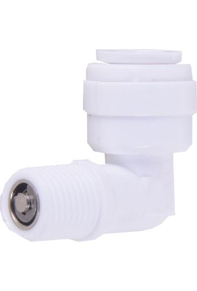 Su Arıtma Membran Filtre Dirseği Çekvalfli 1/4 inç Quick