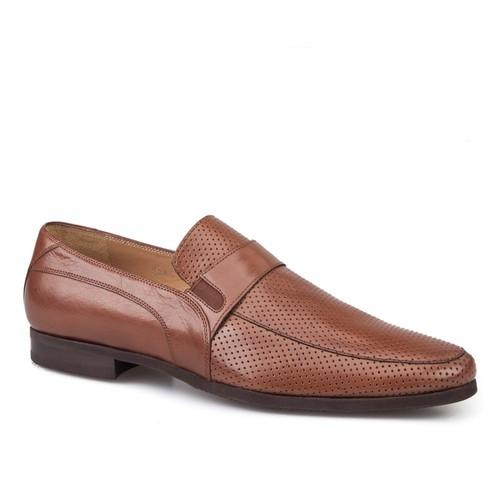 Cabani Bağcıksız Klasik Erkek Ayakkabı Taba Buffalo Deri