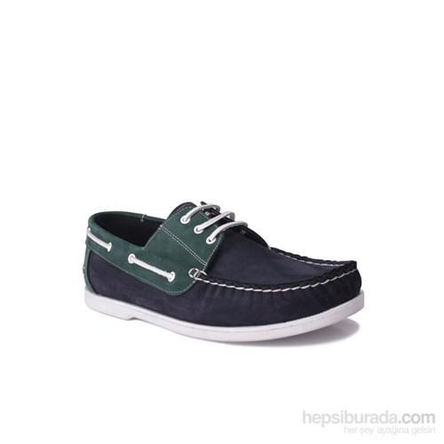 Kalahari Erkek Klasik Ayakkabı Lacivert Yeşil