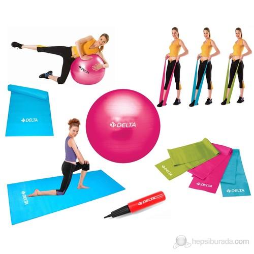 Delta Full-Bant-Set Kombinasyonlu Ultra-Deluxe Dura-Strong Pilates Seti