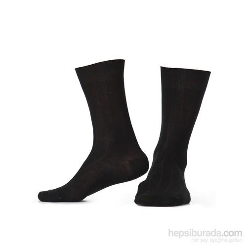 Miorre D&W Derby Pamuk Erkek Çorap Siyah