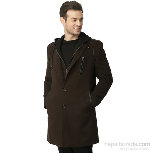 Dewberry Erkek Palto Kahverengi