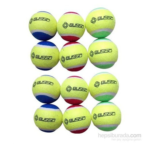 Busso CB20 Renkli Tenis Topu 12'li