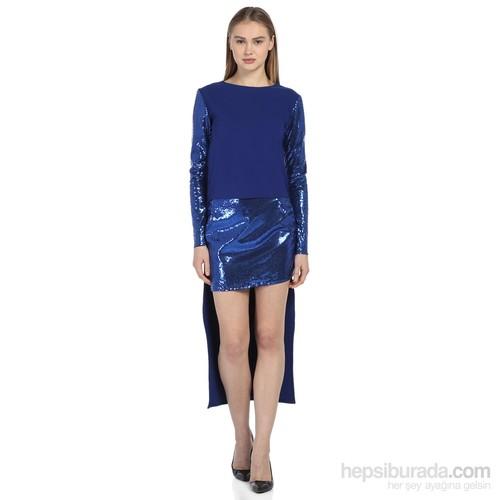 Karahasans Mavi Payetli Bluz 2