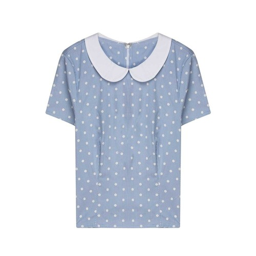 Nisantash Puantiyeli Mavi Bluz