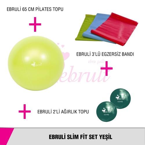 Ebruli Slim Fit Set Yeşil
