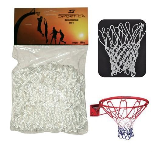 Sportica Basketbol Ağı Beyaz Tekli Profesyonel BNA12