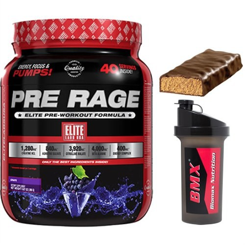 Elite Labs Pre Rage Performans 280 Gr (Grape)