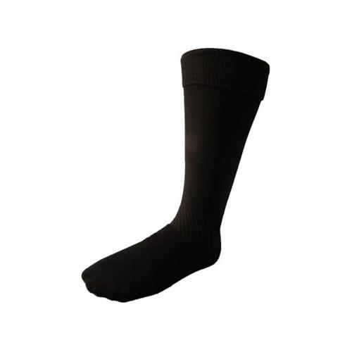 Korayspor Tozluk Duz Siyah Çorap