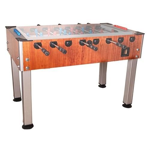 Vole Camlı Ofis Ceviz Langırt Masası