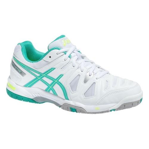 Asics Gel Game 5 White Mint Flash Yellow Kadın Tenis Ayakkabısı