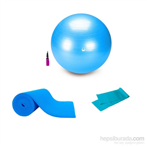 Tristar Pilates Deluxe Set Mavi 65 Cm