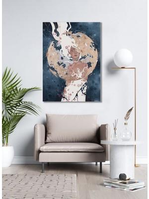 Bordo Sanat Bordosanat 60 x 80 cm Kadın Dekoratif Duvar Kanvas Tablo