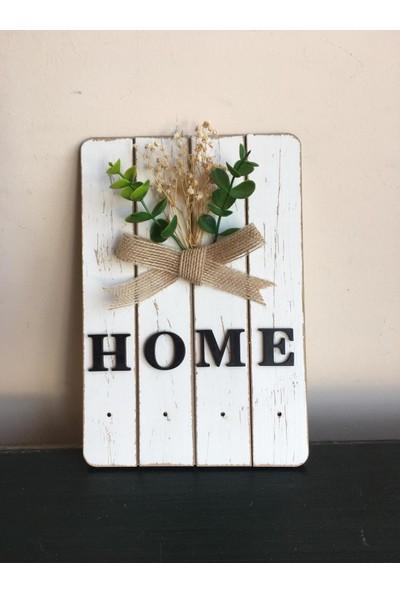 St Design Home Eskitme Beyaz Anahtarlık Askısı
