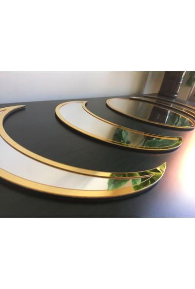 St Design Modern Ayın Her Hali Gold-Gümüş Pleksi