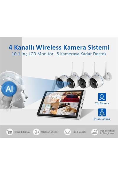 Vrpro 10.1 Inç Ekranlı Wifi Cctv Güvenlik Kamerası Kayıt Özellikli