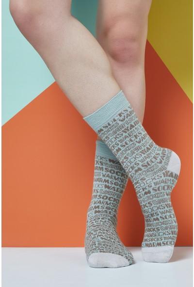The Socks Company Typography Desenli Erkek Çorap 41-45 Numara