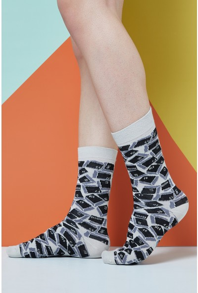 The Socks Company Geeky Desenli Erkek Çorap 41-45 Numara