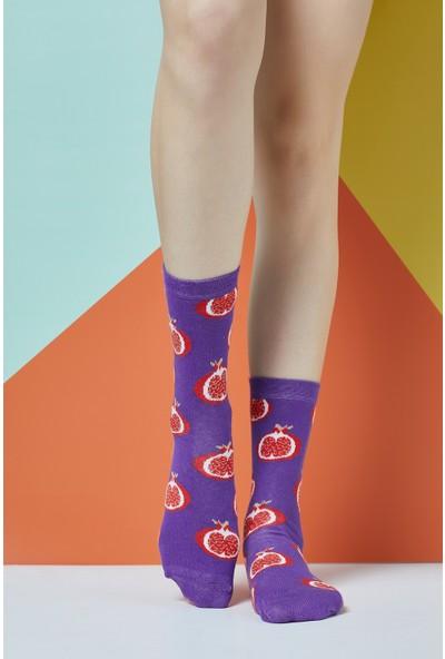 The Socks Company Pomegranate Desenli Kadın Çorap 36-40 Numara