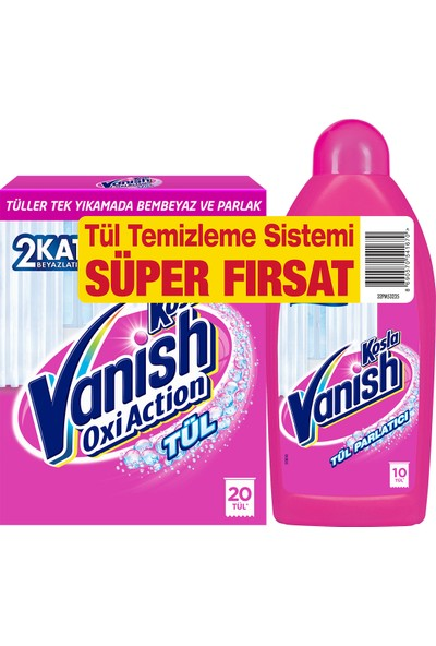 Vanish Kosla Tül Temizleyici Toz 450gr + Parlatıcı 450 ml