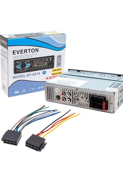Everton RT-6018 4X50 Watt Bluetooth-Usb-Sd-Fm-Aux Destekli Oto Teyp