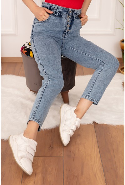 Kalopya Kot Beli Lastikli 5 Düğmeli 002 Pantolon