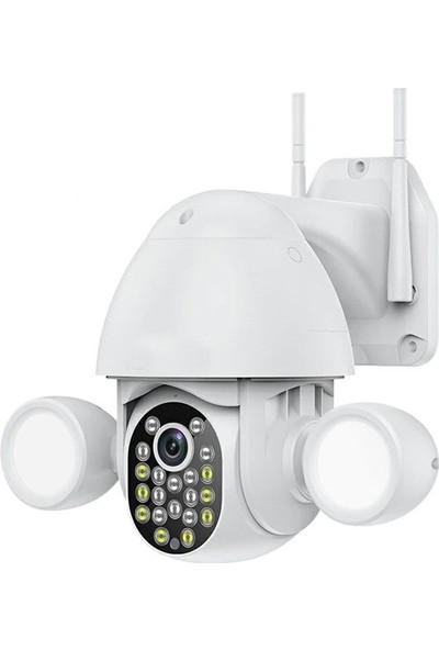 Kingboss Motorlu Ip Kamera + 1080P Speed Dome Ptz 2mp Dış Mekan IP41