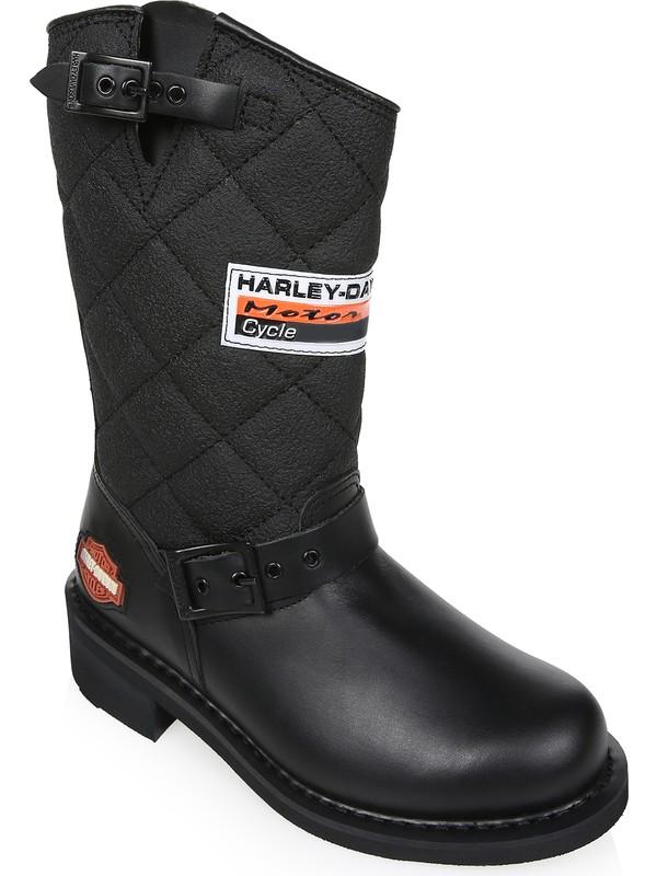 Harley Davidson Laconia Siyah %100 Deri Bot