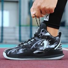 Sitong Siyah Beyaz Basketbol Ayakkabı (Yurt Dışından)