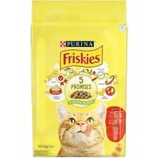 Friskies Etli Tavuklu Ve Sebzeli Yetişkin Kedi Maması 10Kg