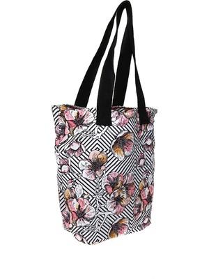 T-Box Çiçek Desenli Renkli Plaj Çantası
