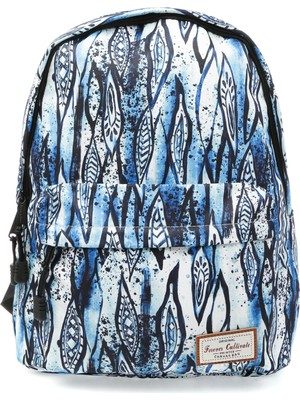 Forever Cultivate 1908-13 Desenli Mavi Kadın Sırt Çantası