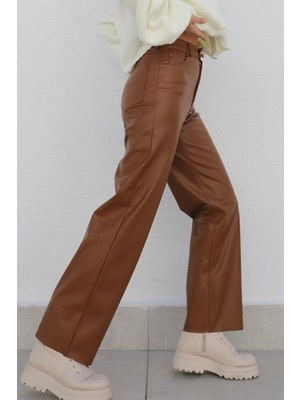 Leather Wide Leg