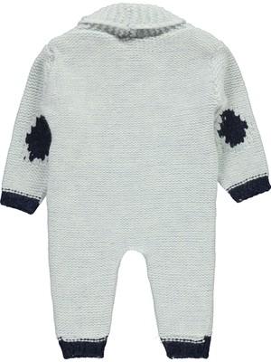 Civil Baby Erkek Bebek Patiksiz Tulum 6-18 Ay Buz Mavi