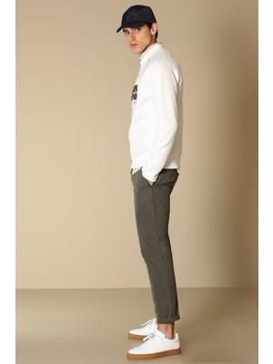 Lufian Taylor Spor Erkek Chino Pantolon Slim Fit Haki