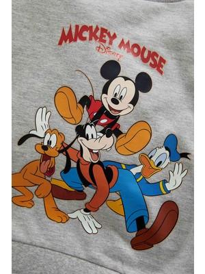DeFacto Erkek Bebek Mickey & Minnie Lisanslı Regular Fit Sweatshirt W0297A221WN