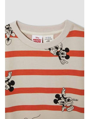 DeFacto Erkek Çocuk Mickey & Minnie Lisanslı Regular Fit Lisanslı Bisiklet Yaka Sweatshirt W1843A621WN