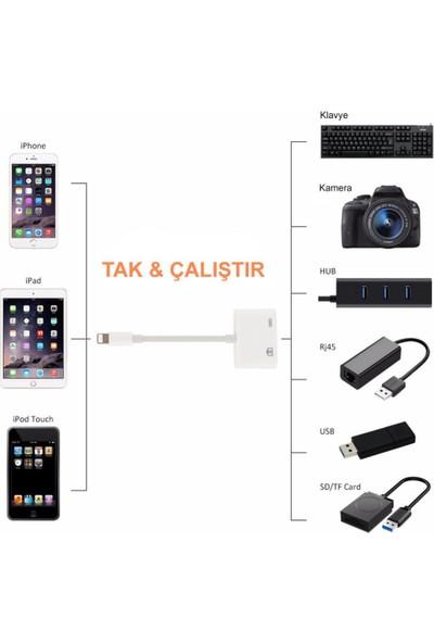 Eldest iPhone iPad Lightning To USB 3.0 Kamera Adaptörü Çevirici Aktarıcı Kablo