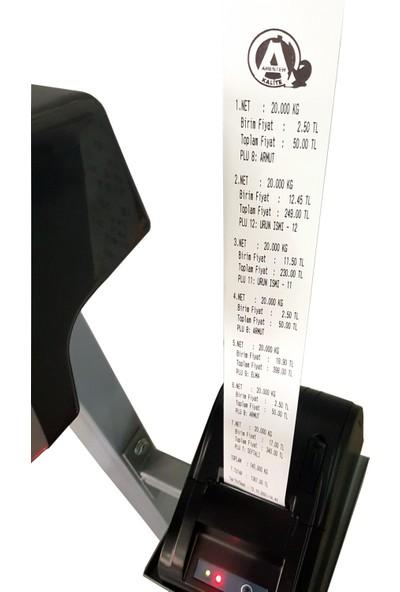 Arester Rf-Led Fiş Yazıcılı Baskül 80 x 90 cm 600 kg 58 mm