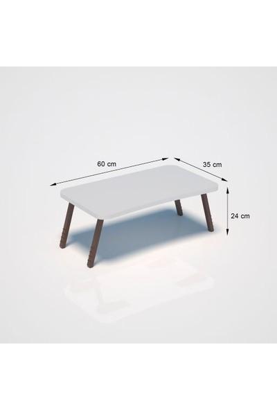 Larem Mobilya Laptop Sehpası,kahvaltı Sehpası Beyaz